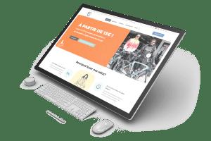 Site internet de Loc'vtt Sanc'r réalisé par Charlie Laubin et l'agence Calaweb