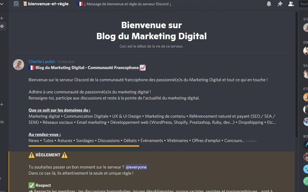 Discord Marketing Digital - Blog du marketing Digital